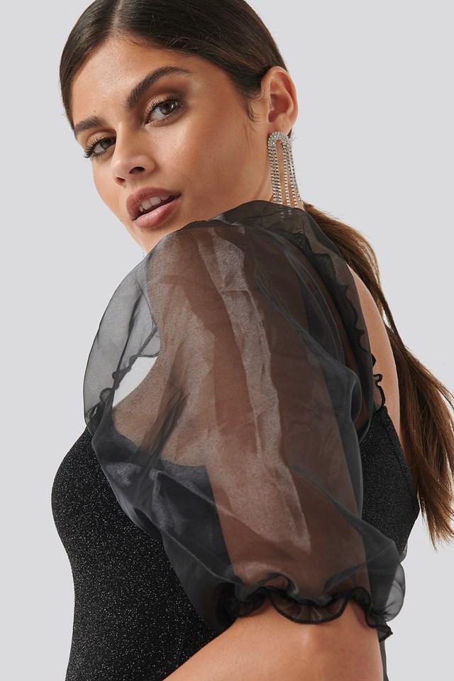 Pumi Short Sleeve Top Black