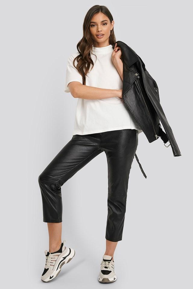 Ania Cropped Pants Black