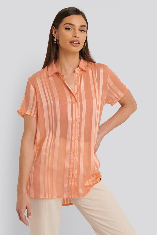 Hadi Shirt Short-Sleeve Peach whip pink