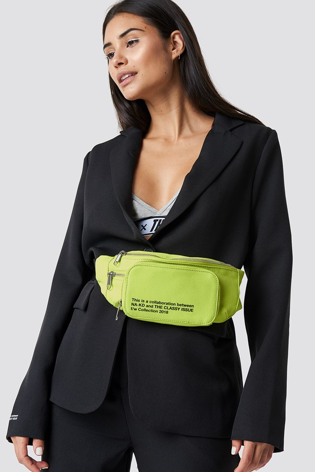 The Classy Fanny Pack Yellow Lime