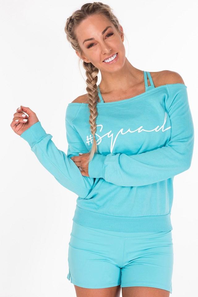 The Shez Slouchy Sweater Aqua