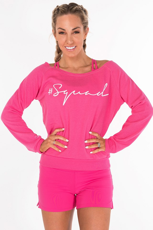 The Shez Slouchy Sweater Bright Pink