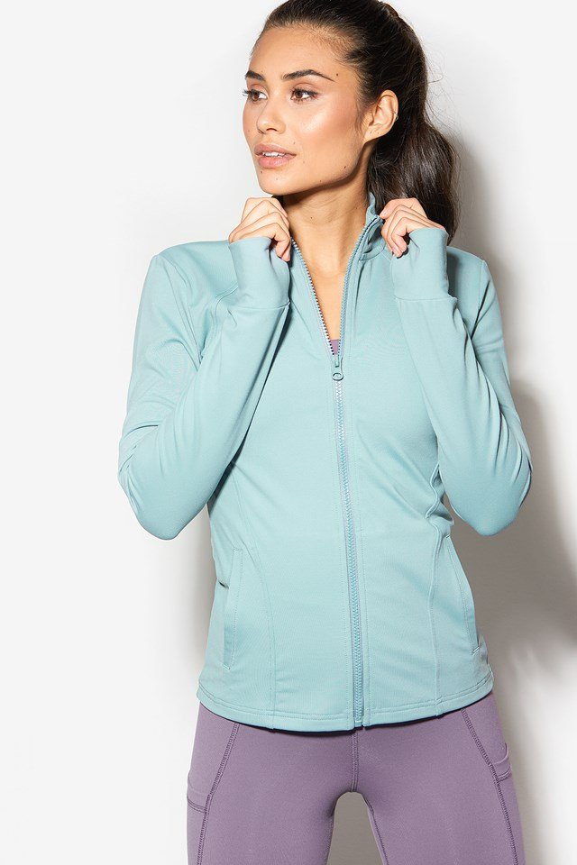 All Rounder Zip Jacket Misty Green