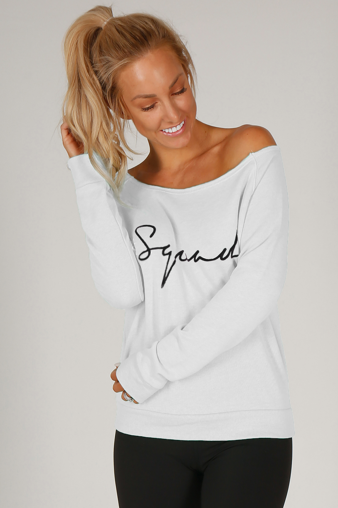 White The Shez Slouchy Sweater