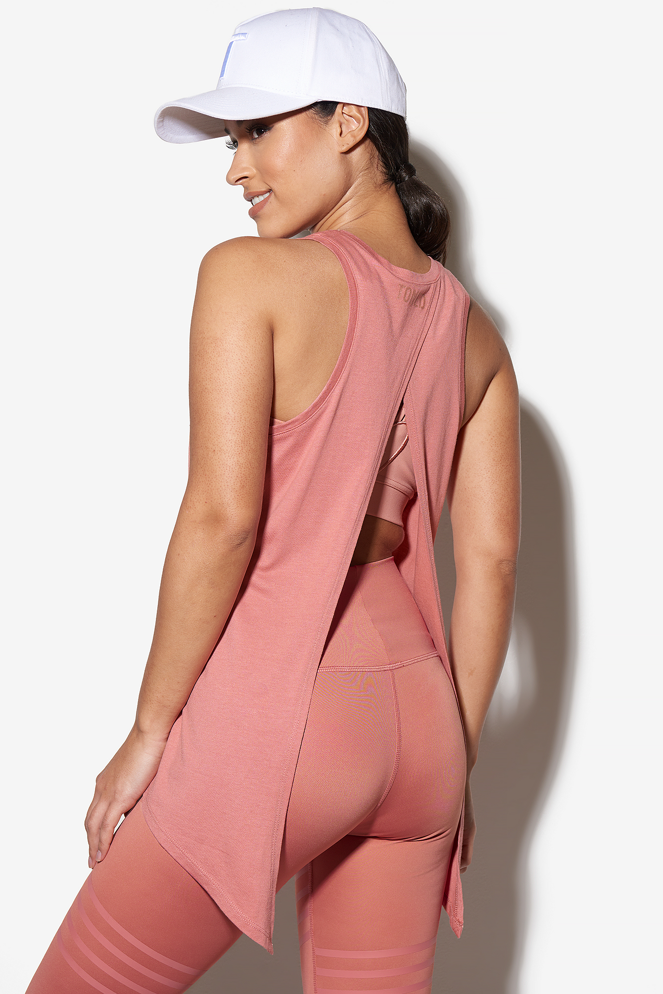 Dusty Rose Open Back Tie Tank
