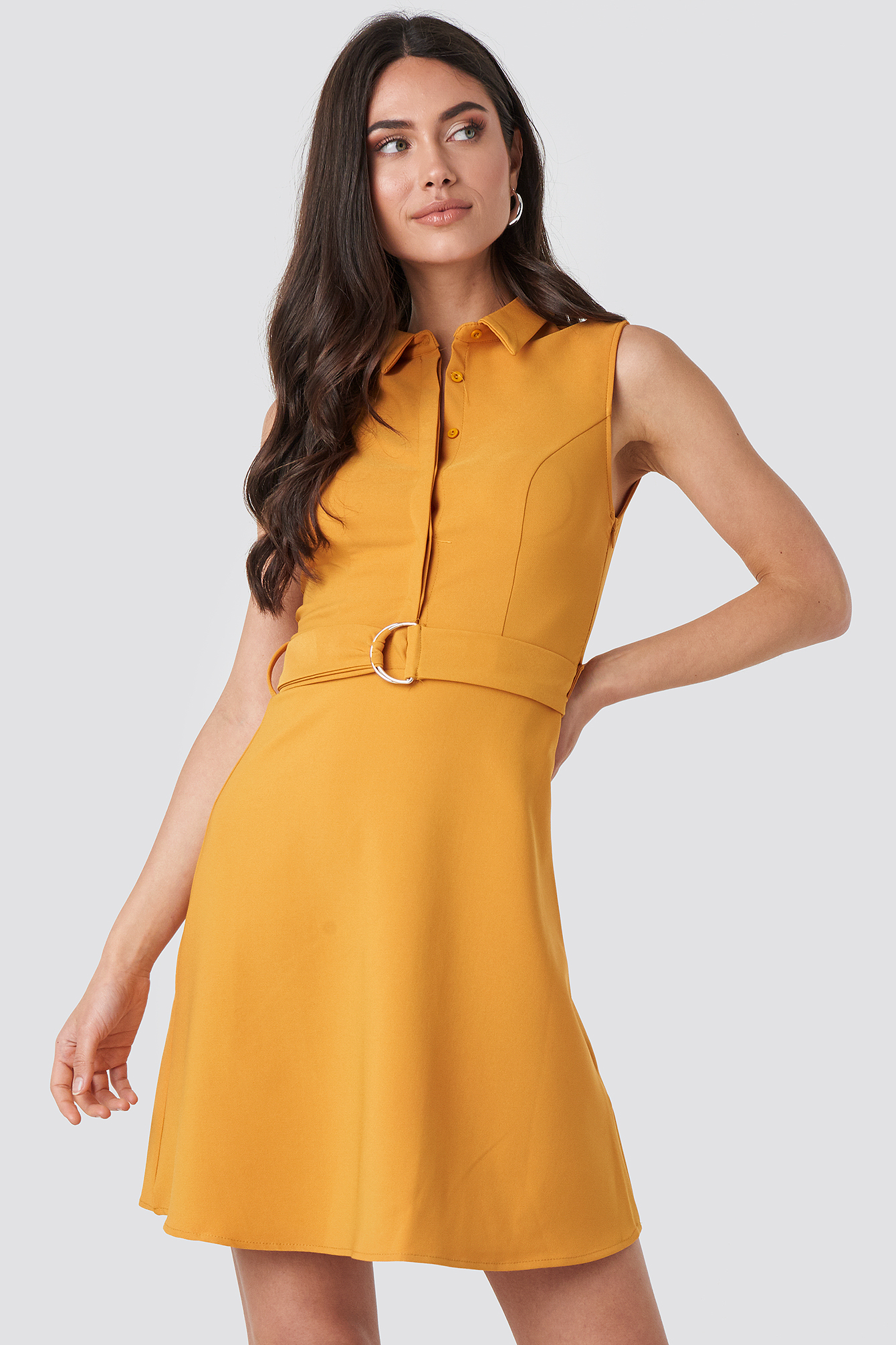 Apricot Apricot Belt Detailed Midi Dress