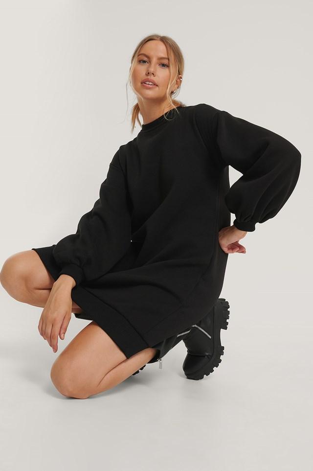 Black Sukienkosweter