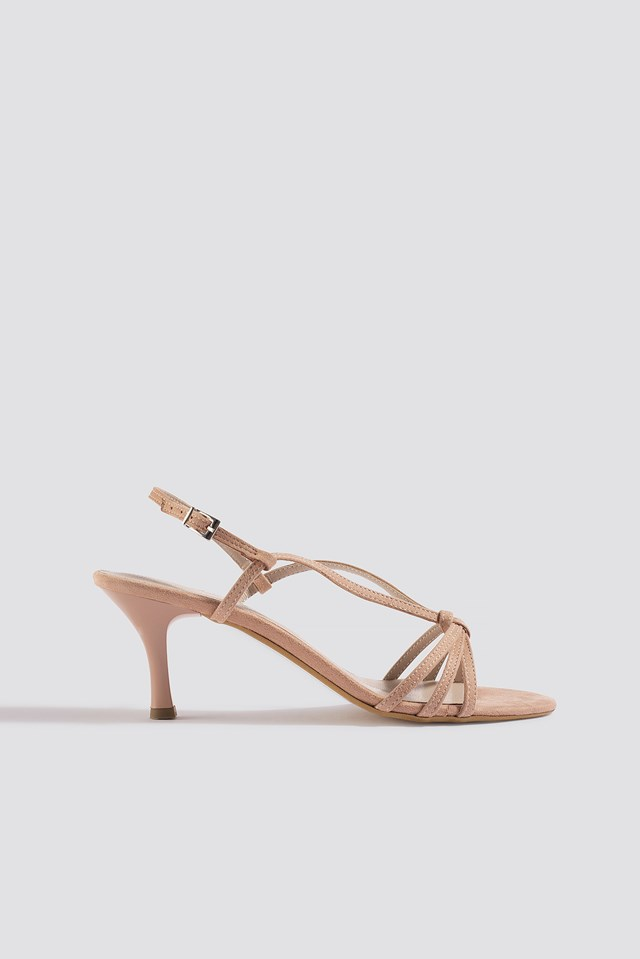 High Heel Strap Sandal Powder Pink