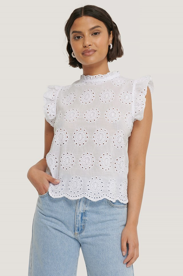 Lace Detailed Blouse White