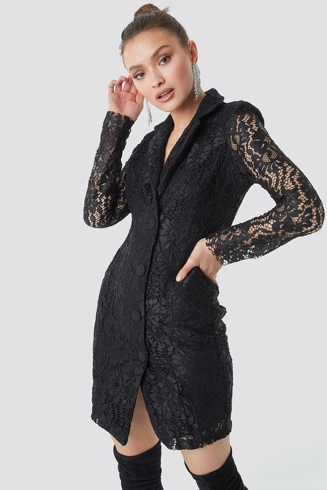 Black Sukienka Wiązana