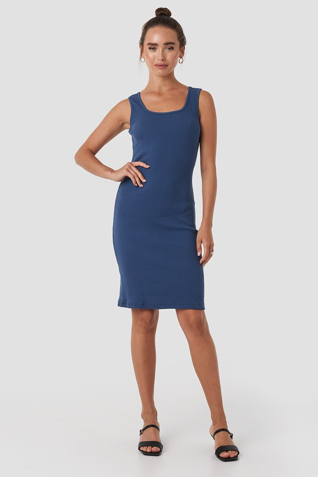 Millz Midi Dress Indigo