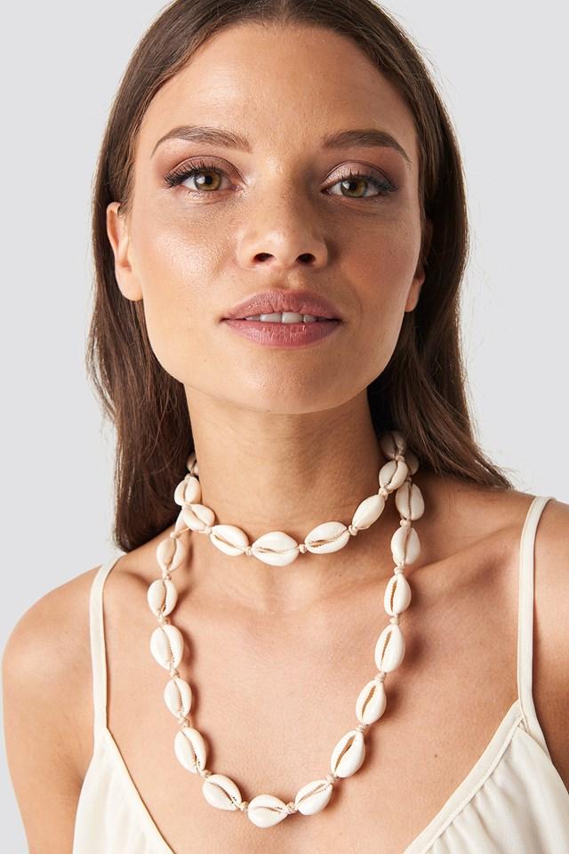 Seashell Necklace Ecru
