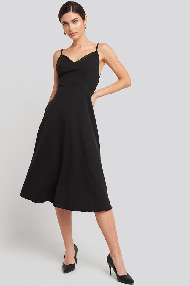 Black Sukienka Na Ramiączkach
