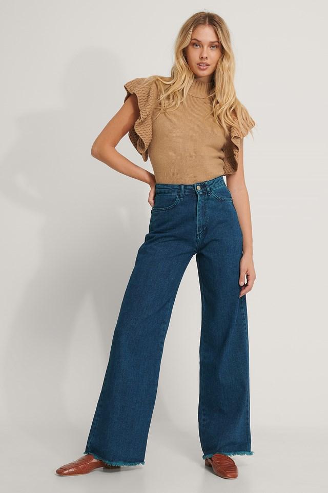 Wide Leg Jeans Navy