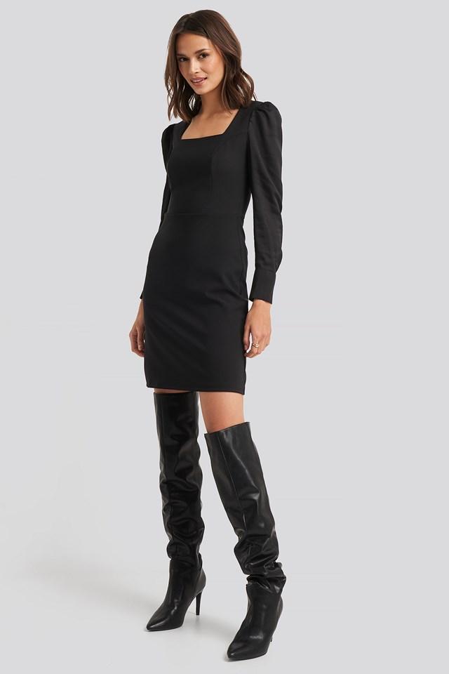 Yol Classic Mini Dress Black