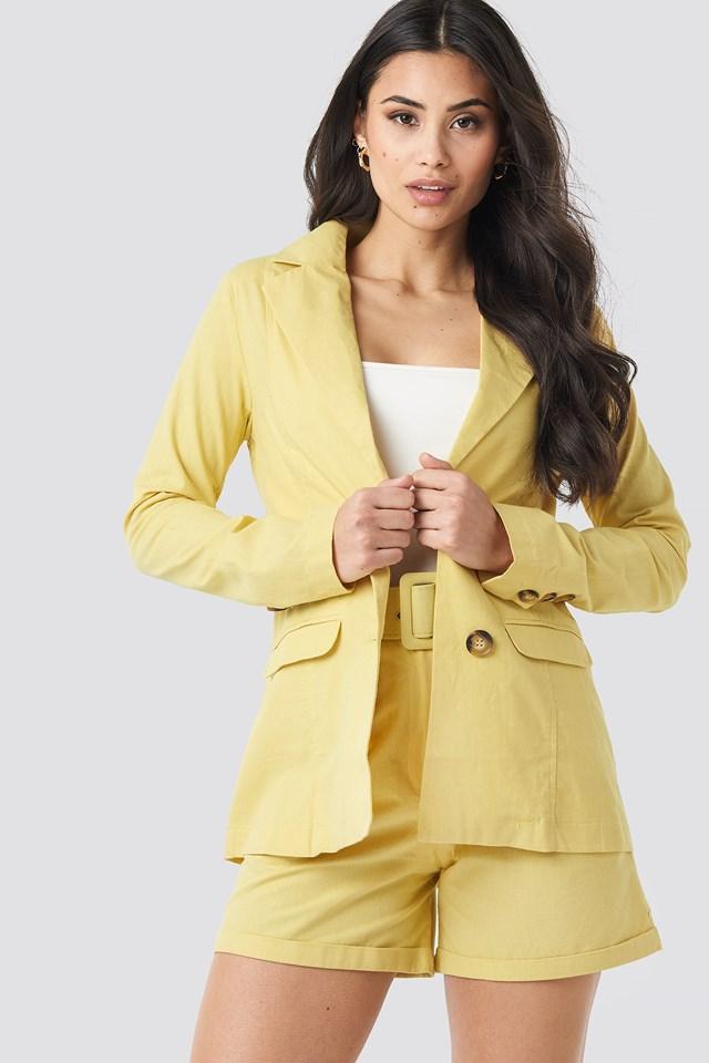 Yol Pocket Detailed Jacket Mustard