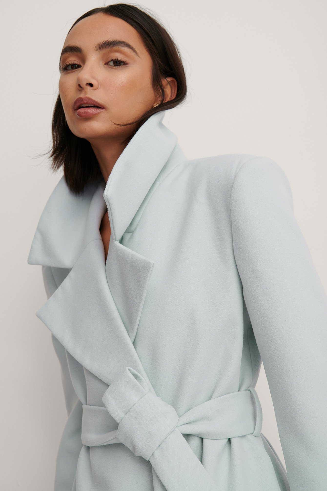 Light Blue Marked Shoulders Coat