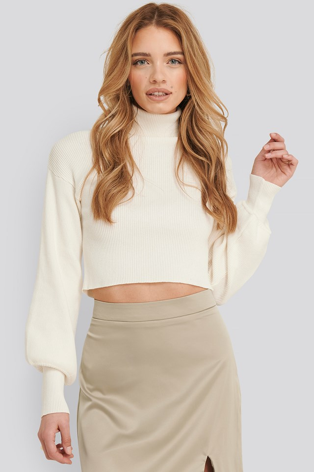 Aspyn turtleneck knitted sweater Offwhite
