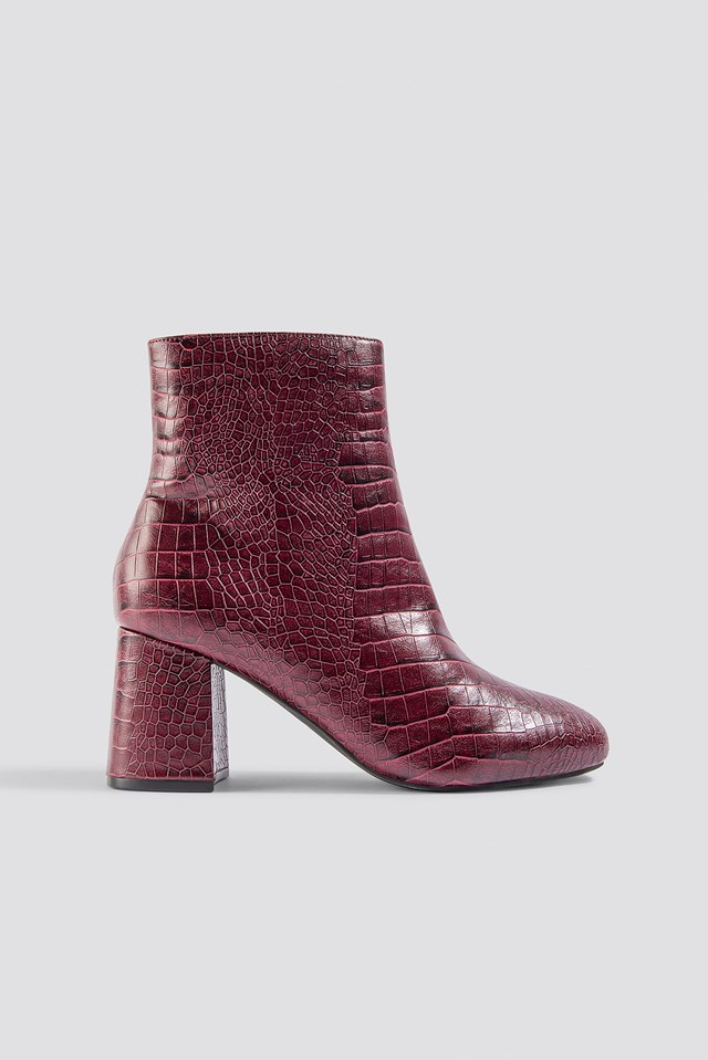 Rebecca Croc Boot Deep Wine